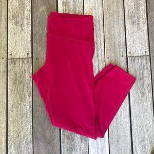 Lululemon   Pink Crop Mesh-Back Leggings